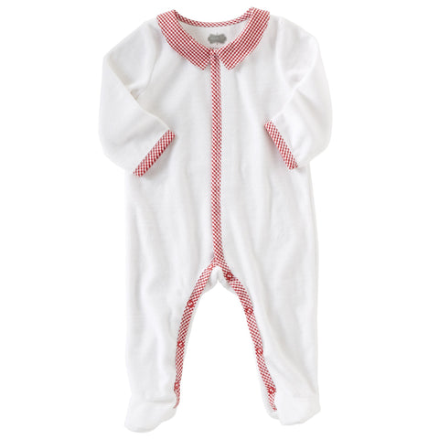 "Mud Pie ""Monogram Me"" Holiday Velour Sleeper (Boy)"