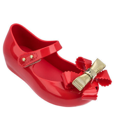 "Mini Melissa ""UltraGirl Sweet IV"" Mary Jane Red"