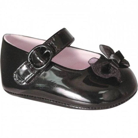 Baby Deer Mary Jane Black Patent