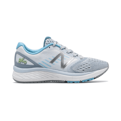 New Balance Girls Grey and Blue KJ860GEY