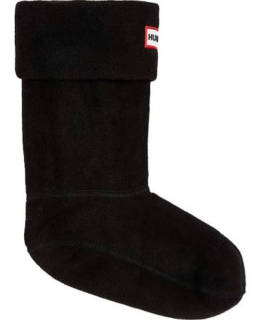 Hunter Kids Fleece Boot Sock Black