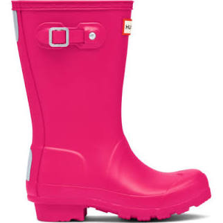 "Hunter Juniors ""Original"" Wellington Boots Bright Pink"