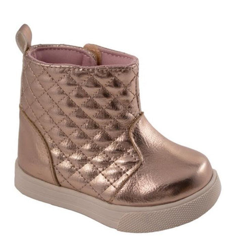 Baby Deer Rose Gold Met PU High Top