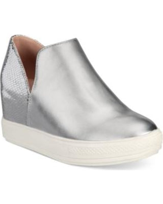 "Wanted Women's ""Adiron"" Platform Wedge Sneaker Silver"