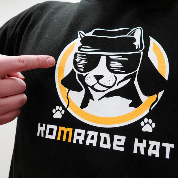 Big Komrade Kat - black hoodie - LifeOfBoris