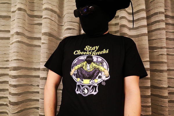 Stay Cheeki Breeki T-Shirt Black - LifeOfBoris