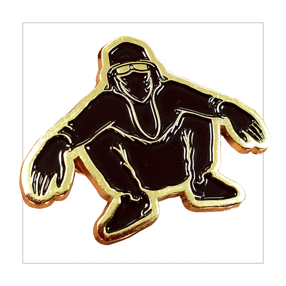 Golden Squatnik pin - LifeOfBoris