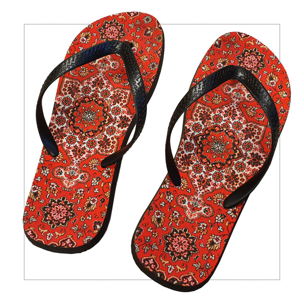 Russian carpet flip-flops - LifeOfBoris