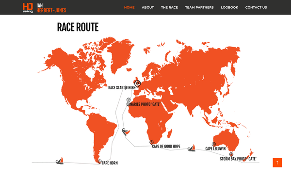 Golden Globes Race Sailing Round the World Route, this image shows a map of the sailing course the fleet shall take
