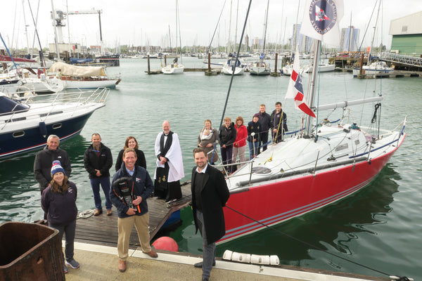 TeamO Marine supporting the RNSA Royal Naval Sailing Association with lifejackets for the crew of the new Corby 29 boat crew for the 2021 sailing season in the Solent