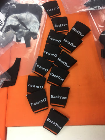 TeamO Marine BackTow Lifejacket part waiting for production in the TeamO UK factory