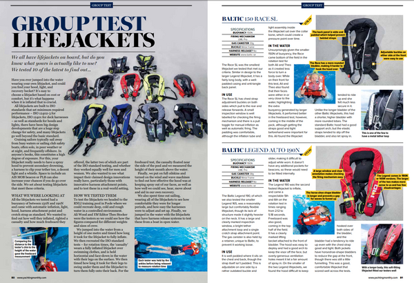 yachting monthly lifejacket review 2019, teamo marine backtow lifejacket, sailing, sail magazine, lifejacket test, best lifejacket, teamo marine, lifejacket for cruising sailors
