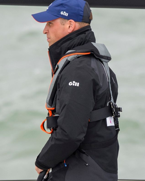 Prince William, TeamO lifejacket, sail, sailing, The Kings Cup, Fast 40 yacht