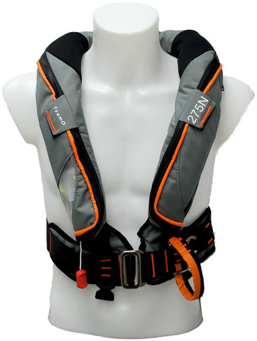275N Ocean BackTow Lifejacket DeckHarness in Grey