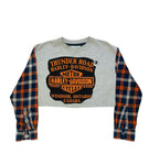 ORANGE IS THE NEW BLACK CROPPED CREWNECK