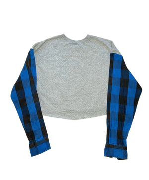 BLUE BABY CROPPED CREWNECK