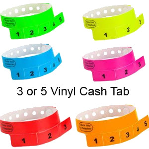 Vinyl Wristbands with Tags