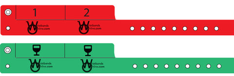 cash tag wristbands