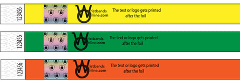 Printing on Foil Wristbands