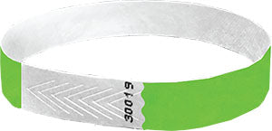 half inch green wristbands