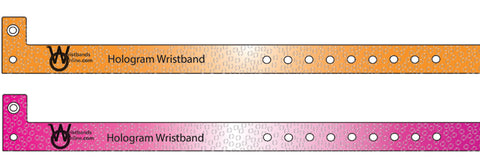Hologram Wristbands Custom Printing