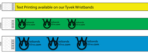3 types of tyvek wristbands