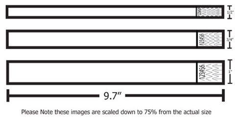 picture regarding Printable Wristband referred to as Tyvek Wristbands 3 option measurements. Customized Print upon our