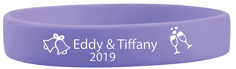 Wedding Day Silicone Wristbands