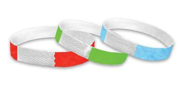 1/2 Closeouts Red Green and Blue Wristbands