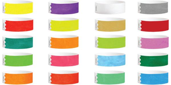 1inch Tyvek Paper Wristband Solid Colors