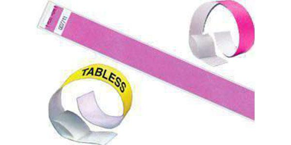 1inch Tyvek Paper Wristband Tabless Solid Colors