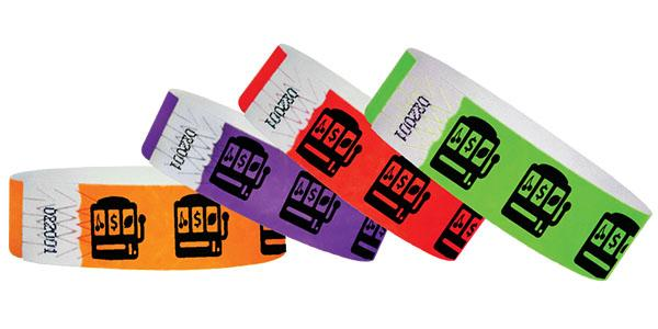 3/4 Casino Slot Machine Wristbands