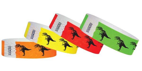 "3/4""  Dinosaur  Wristbands"
