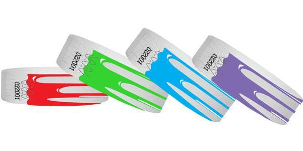 3/4 Drip Tyvek Wristbands Sale