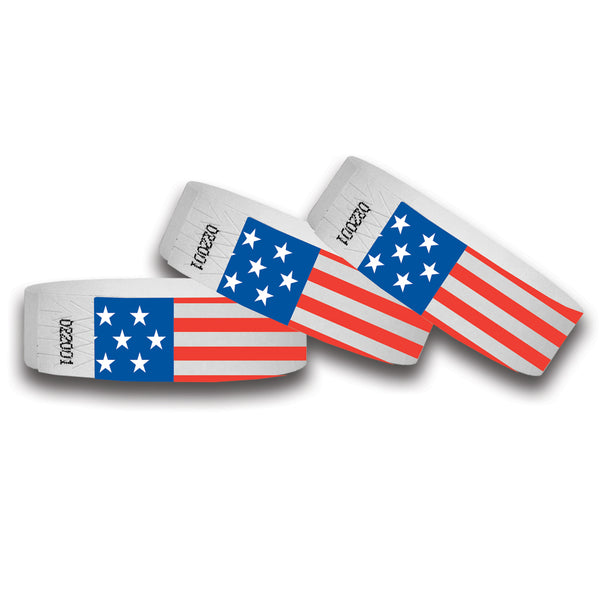 AMERICAN FLAG WRISTBANDS