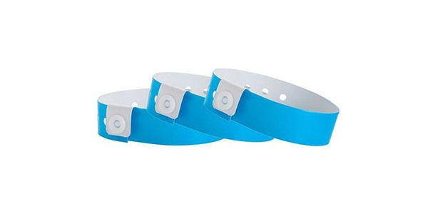 Blue Vinyl Wristband Solid Colors