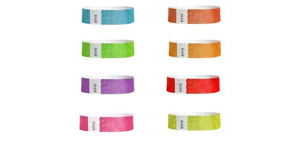Custom Printed 3/4 Metallic Tyvek Paper Wristbands
