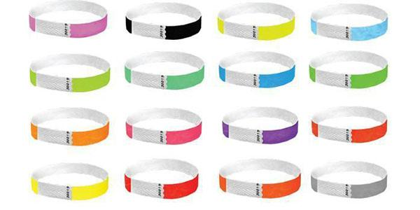 Custom Printed 1/2 Tyvek Wristbands Solid Colors