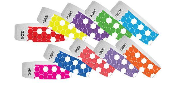 3/4 Tyvek HoneyComb Wristband Sale