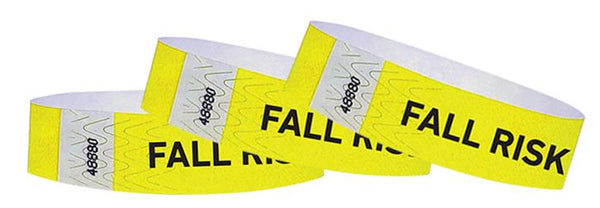 "3/4"" Medical Alert Fall Risk Tyvek Wristbands"