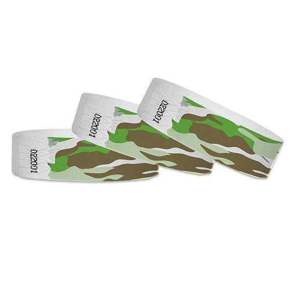 3/4 Green Camo  Wristband Design