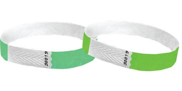 Green or Mint Green 1/2 Tyvek Wristbands