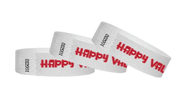 3/4 Tyvek Wristband Happy Valentine's Day
