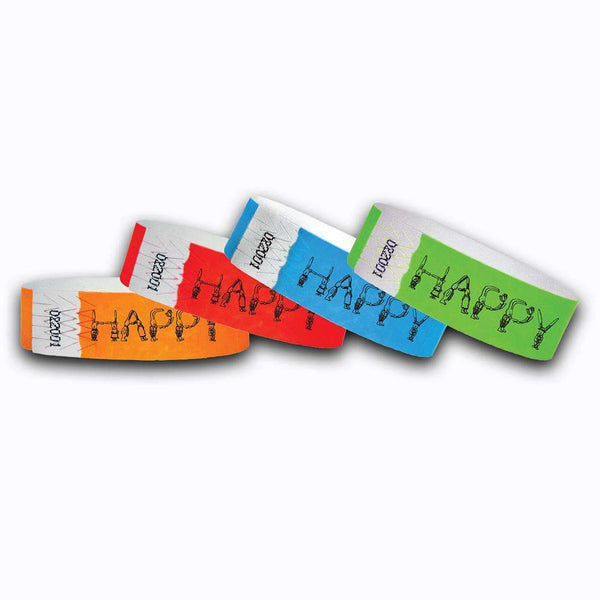 3/4 Happy Easter  Tyvek Wristbands