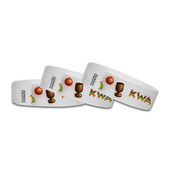 3/4 Kwanzaa Full Color  Wristbands