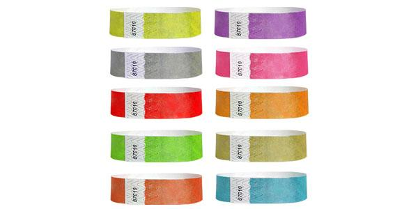 3/4 Metallic Tyvek Paper Wristbands
