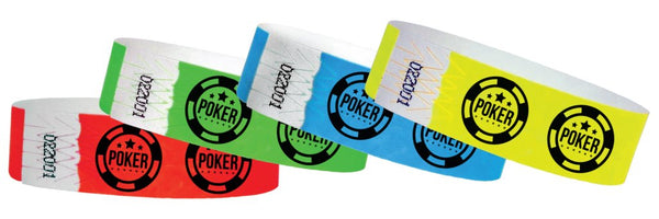 3/4  Casino Poker Chip Wristbands