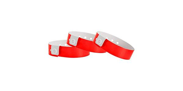 Red Vinyl Wristband Solid Colors