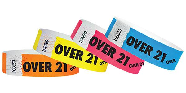 "3/4"" Standard Wristbands OVER 21 Limited Time Sale"