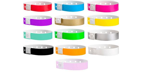 Plastic Wristband Solid Colors
